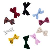 """Parker Baby Girl Bows Clips, Assorted 10 Pack of Hair Accessories for Girls -""""The Anne Set"""""""