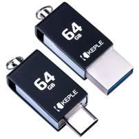 USB Memory Stick 64GB USB C 3.0 High Speed Dual OTG Pen Flash Drive Compatible with HP Elite x2, Pavilion x2, Pro 608 G1 Tablet   64 GB Type C Data Thumb Drive