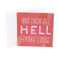 Hallmark Studio Ink Birthday Card (Hell Broke Loose)