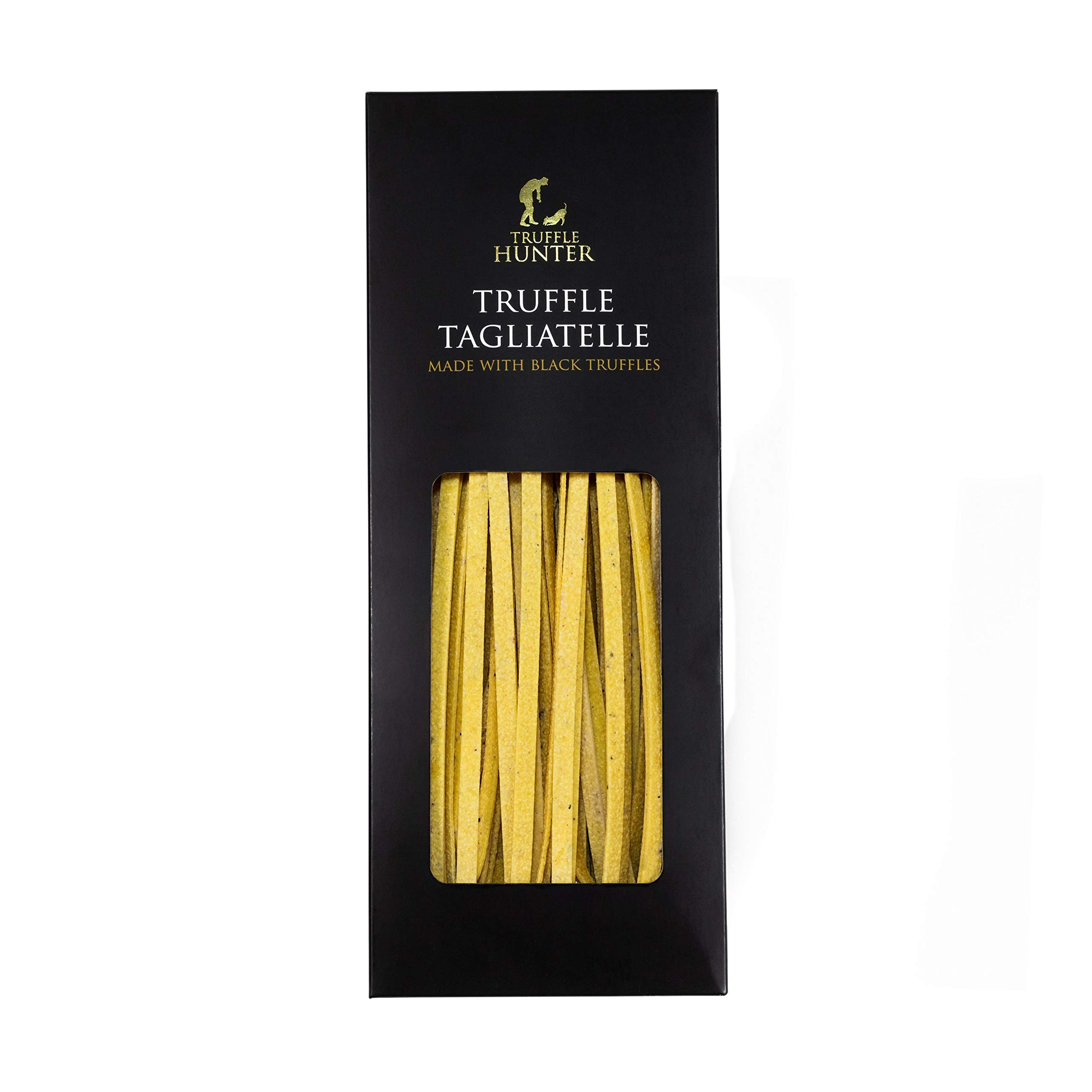 TruffleHunter Real Black Truffle Tagliatelle Pasta (8.82oz) in a Gift Box - Made by an Expert Pasta Chef with Durum Wheat - Luxury & Gourmet Artisan Cooking Food - Vegetarian, Nut Free