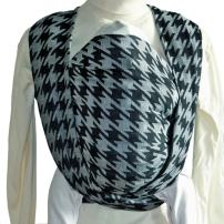 DIDYMOS Woven Wrap Baby Carrier Houndstooth Anthracite (Organic Cotton), Size 2