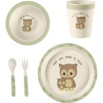 Precious Moments 5 Owl Gift Mealtime Feeding Set, One Size