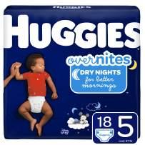 Huggies OverNites, Diapers, Size 5, 18 ct
