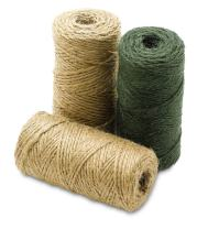 Katzco All Natural Jute Twine Assorted - 3 Pack, Mix - Brown, Off-White and Green - 443 Feet Total - for Industrial, Packaging, Arts and Crafts, Gifts, Decoration, Bundling, Gardening, and Home