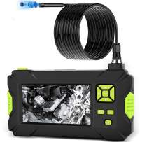 Industrial Endoscope, uniwood Endoscope Camera 1080P HD 4.3'' Screen Professional Inspection Camera, 2600mAh Standard 18650 Battery Handheld Inspection Camera with 8 LED Lights IP67 Waterproof