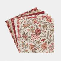 """Connecting Threads Print Collection Precut Quilting Fabric Bundle 5"""" Charm Squares (Maison Rouge)"""