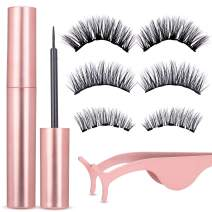 Magnetic Eyeliner and Lashes Kit, Magnetic Eyeliner for Magnetic Lashes Set, With Reusable Lashes [3 Pairs]