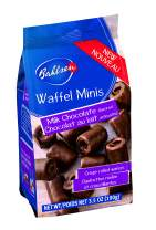 Bahlsen Waffeletten Milk Minis (1 bag) - Delicate Wafer Rolls dipped in European Chocolate - 3.5 oz bags