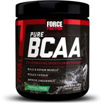 Force Factor Pure BCAA Hydrating Intra-Workout Powder with 2:1:1 BCAA Ratio to Build Lean Muscle, Reduce Fatigue, and Improve Endurance, 30 Servings, Tropical Freeze
