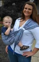 Lite-on-Shoulder Baby Sling, Ergonomic, 100% Cotton, Adjustable Baby Carrier