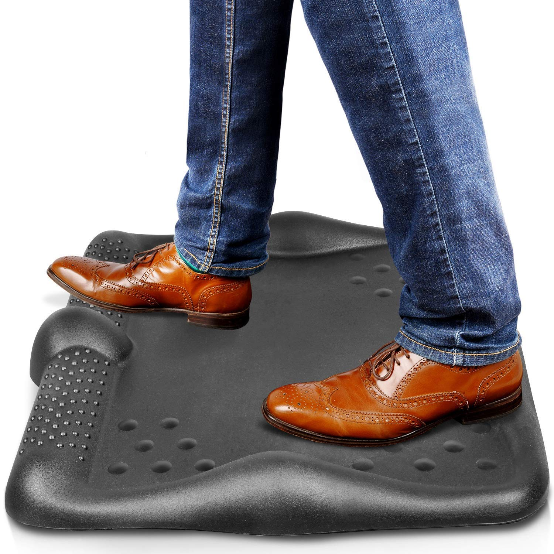 "Anti Fatigue Standing Desk Mat - Huge Padded Ergonomic Comfort 26"" x 24.5"" Kitchen Office Antifatigue Mats"