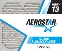 Aerostar 12x20x2 MERV 13, Pleated Air Filter, 12x20x2, Box of 6, Made in The USA