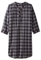KingSize Men's Big & Tall Plaid Flannel Nightshirt