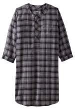 KingSize Men's Big & Tall Plaid Flannel Nightshirt Pajamas