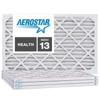 Aerostar 6x12x1 MERV 13, Pleated Air Filter, 6x12x1, Box of 4, Made in The USA