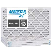 Aerostar 6x12x1 MERV 13, Pleated Air Filter, 6x12x1, Box of 4, Made in The USA