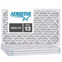 Aerostar 22x28x1 MERV 13, Pleated Air Filter, 22x28x1, Box of 4, Made in The USA