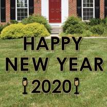 Big Dot of Happiness Happy New Year - Yard Sign Outdoor Lawn Decorations - 2020 New Years Eve Yard Signs