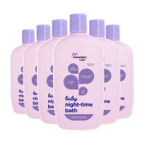 Mountain Falls Hypoallergenic Tear-Free Baby Night-Time Bath, 15 Fluid Ounce (Pack of 6)
