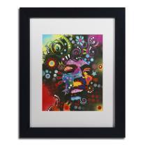 Jimi Hendrix by Dean Russo, White Matte, Black Frame 11x14-Inch