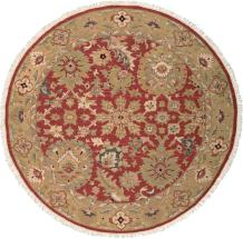 Nourison Nourmak Rust Round Area Rug, 8-Feet by 8-Feet (8' x 8')