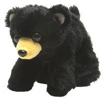 "Wild Republic Black Bear Plush, Stuffed Animal, Plush Toy, Gifts for Kids, Hug'Ems 7"""