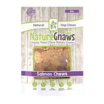 Nature Gnaws Smoked Salmon Jerky Bites - 100% Natural Grain Free Dog Treats