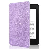 CoBak Kindle Paperwhite Case - All New PU Leather Smart Cover with Auto Sleep Wake Feature for Kindle Paperwhite 10th Generation 2018 Released, Purple Glitter