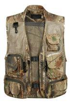 Gihuo Men's Mesh Safari Fishing Travel Camo Vest with Pockets