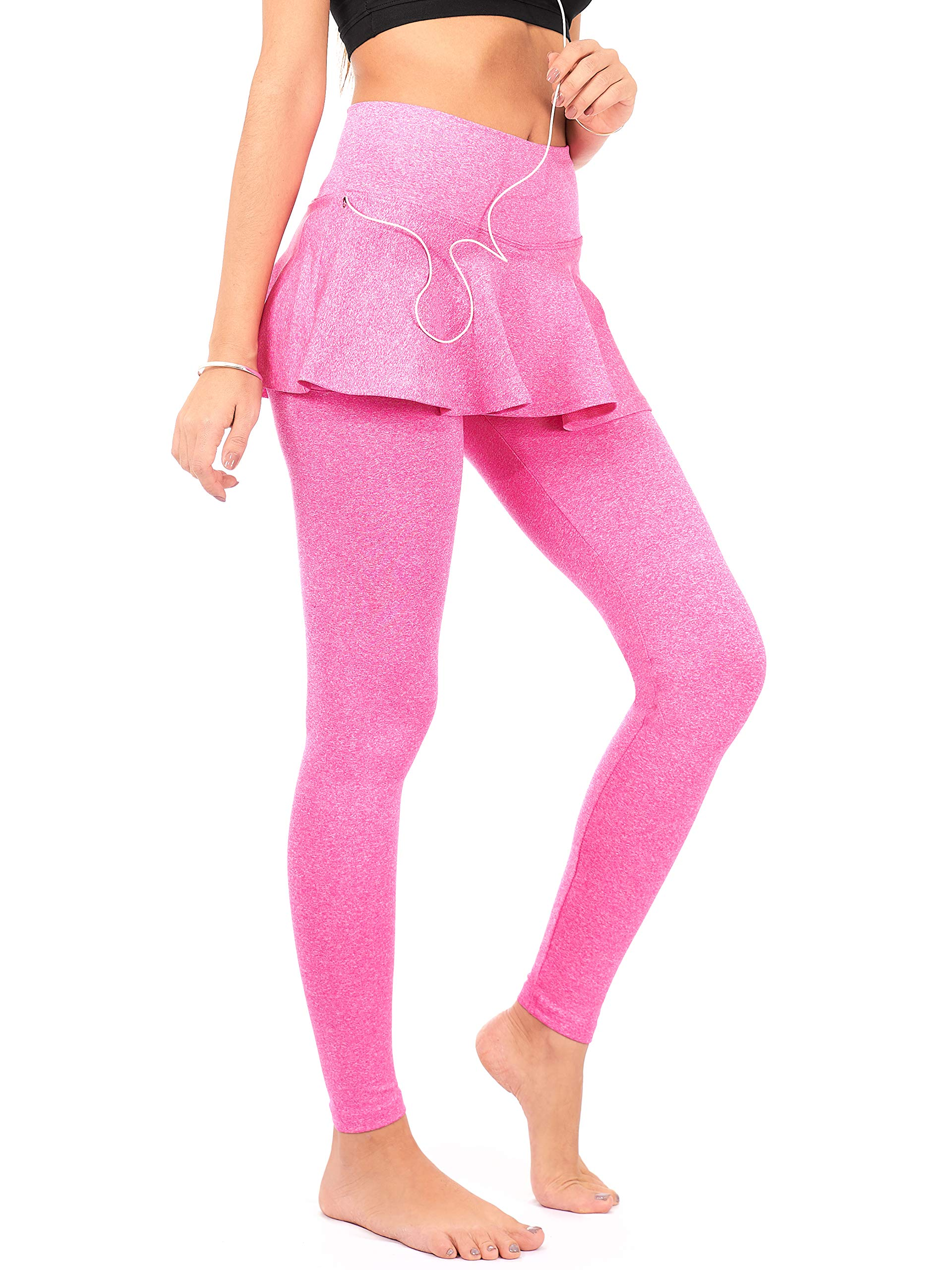 DEAR SPARKLE Skirted Leggings for Women | Yoga Tennis Golf Pants with Skirt Pockets + Plus Size (S9)