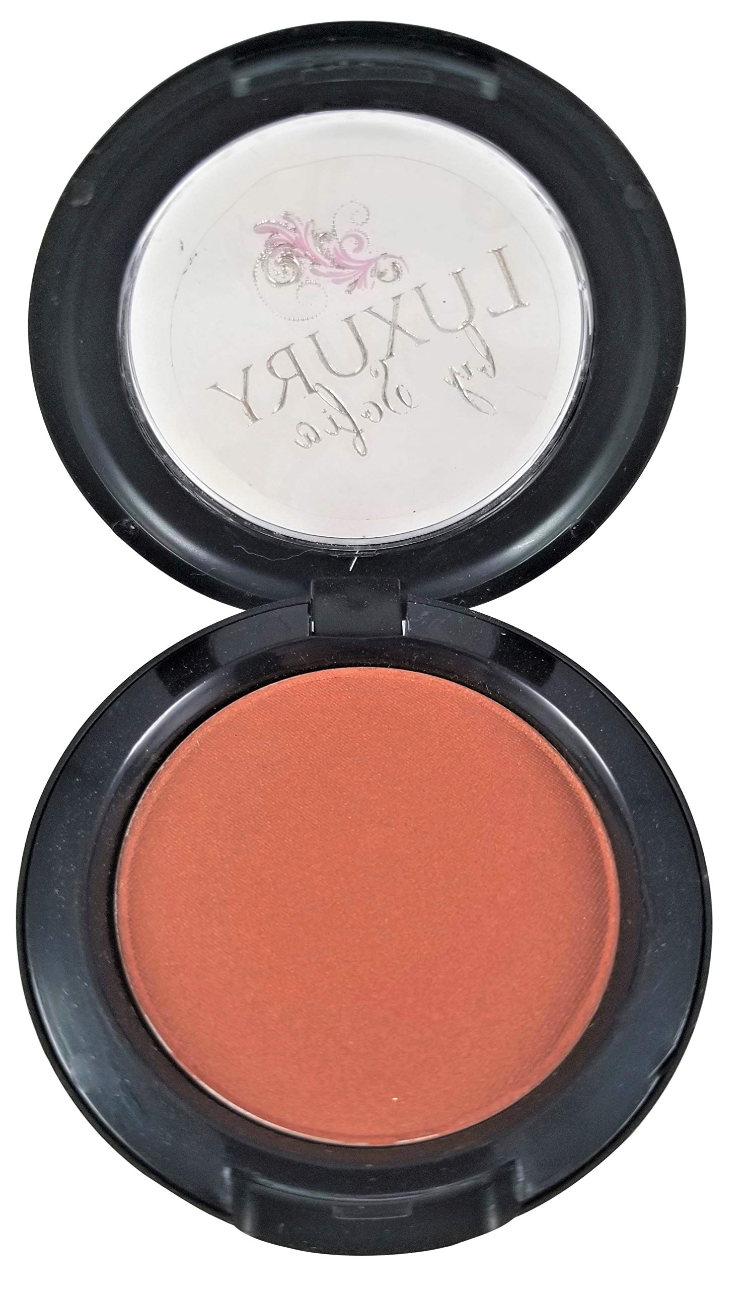 Luxury By Sofia All-Natural Blush | Organic &Natural Ingredients, Highly Pigmented, Smooth Blush Lasts All Day | Highlight Your Face With A Micro-Slip Powder That Glides On The Skin (Ginger Brown)
