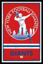 Trends International Wall Poster New York Giants Retro Logo, 22.375 x 34