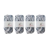 Cotton Select Multicolored Variegated Sport Weight Yarn - 4 Skeins - Col 013 - Salt-n-Pepper
