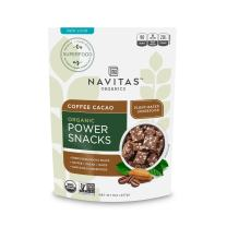 Navitas Organics Superfood Power Snacks, Coffee Cacao, 8 oz. Bags (12 Pack) — Organic, Non-GMO, Gluten-Free, Refined Sugar-Free