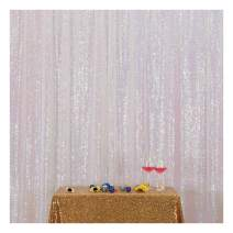 Poise3EHome 4FT x 7FT Sequin Photography Backdrop Curtain for Party Decoration, Iridescent