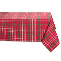 """Tartan Holly Plaid Square Tablecloth, 100% Cotton with 1/2"""" Hem for Holiday, Family Gatherings, & Christmas Dinner (60x120"""" - Seats 10 to 12)"""
