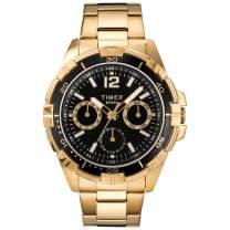 Timex Men's Dress Analog 45mm Stainless Steel Multifunction Bracelet Watch