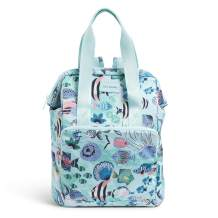 Vera Bradley Recycled Lighten Up Reactive Backpack Cooler, Paisley Wave Fish