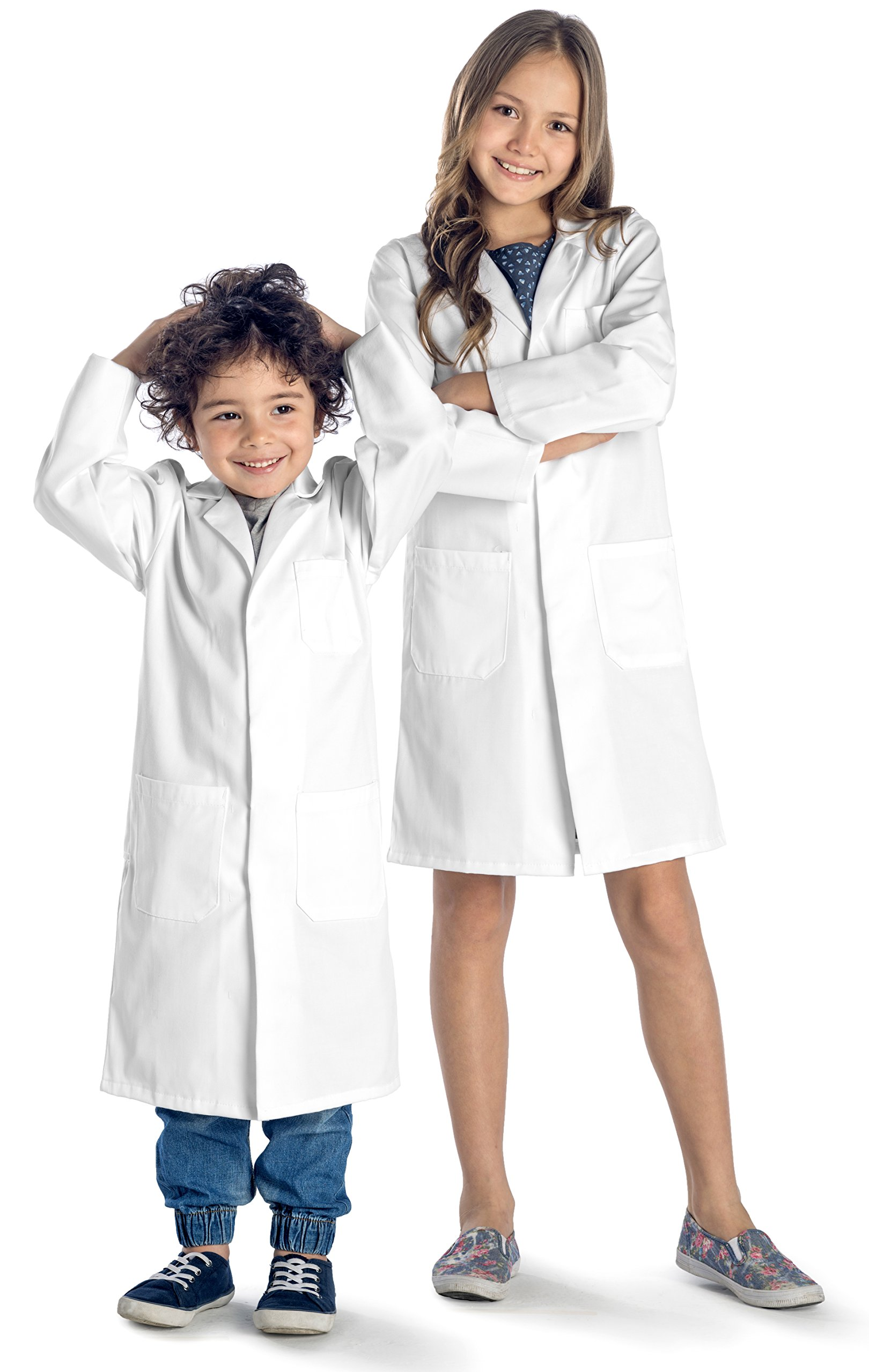 Dr. James Durable Kids Lab Coat with Safety Snap Buttons