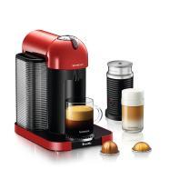 Nespresso Vertuo Coffee and Espresso Machine by Breville with Aeroccino, Red