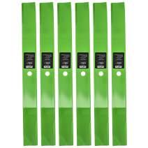 8TEN LawnRAZOR Hi Lift Blade 72 Inch Deck for Lesco Toro Groundsmaster 003032 29-5530 23-2410-03 29-5530-03 6 Pack