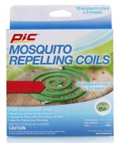 PIC Mosquito Repelling Coils, 10 Count Box, 2 Pack - Mosquito Repellent for Outdoor Spaces - 20 Coils Total