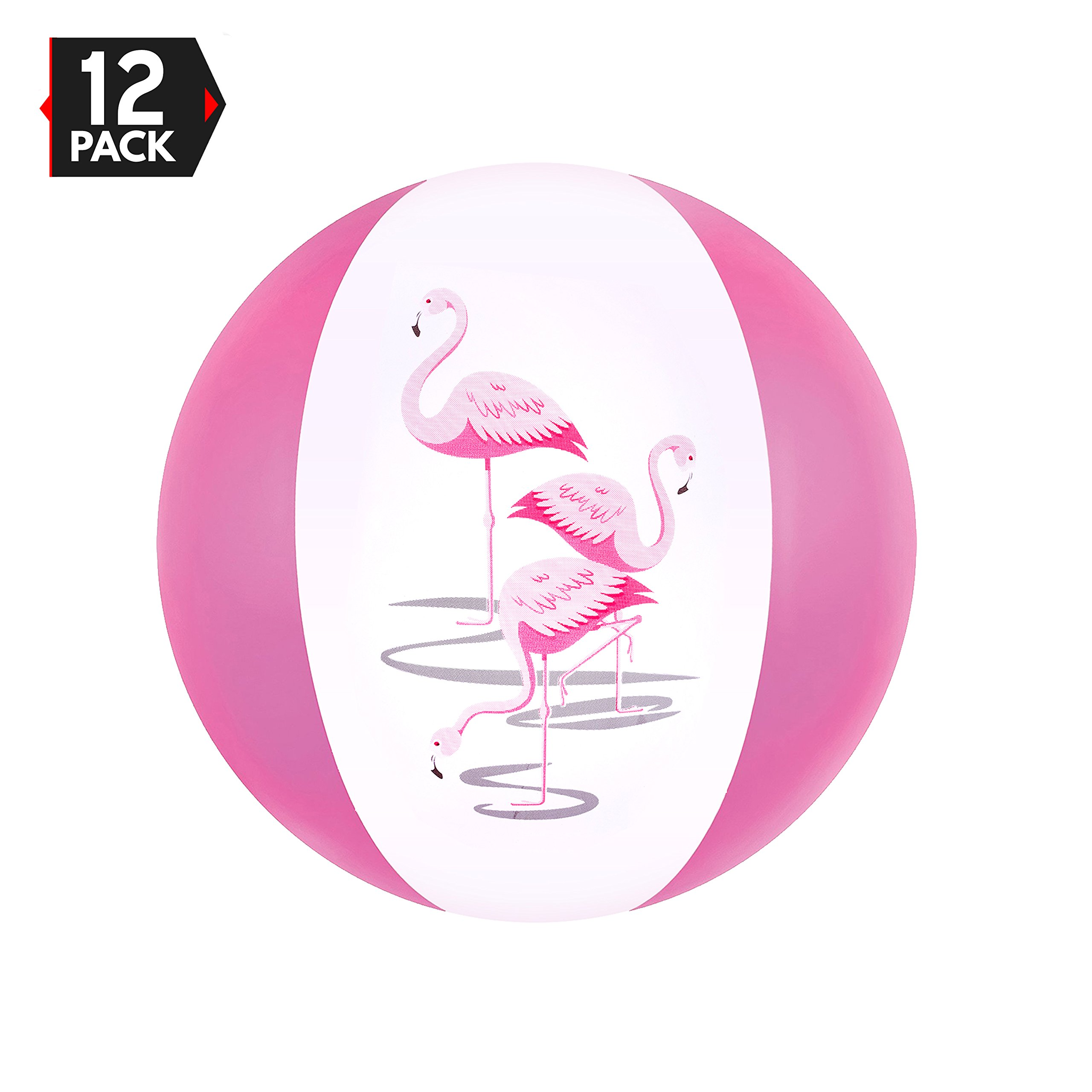 """Big Mo's Toys 16"""" Pink Flamingo Party Favors Inflatable Beach Balls"""