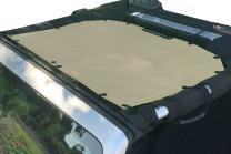 ALIEN SUNSHADE Jeep Wrangler JK or JKU (2007-2018) Front Sun Shade Mesh Top Cover (Tan) – 10 Year Warranty – Blocks UV, Wind, Noise