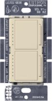 Lutron Maestro Dual Dimmer Switch for Incandescent and Halogen Bulbs, 300-Watt, Single-Pole, MA-L3L3-ES, Eggshell