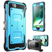 i-Blason Armorbox Series Case Designed for iPhone 7 Plus/iPhone 8 Plus,  Built In Screen Protector   Full body   Heavy Duty Protection   Shock Reduction / Bumper Case (Blue)