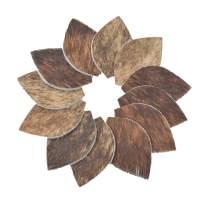 Leather Earrings Leaf Small Die Cut 12pk Hair-On Brindle Mix DIY