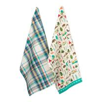 DII CAMZ11119 Cotton Summer Dish, Decorative Oversized Towels, Perfect for Every Day Home Kitchen, Holidays and Housewarming Gifts, 18x28, Happy Camper