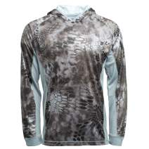 Kryptek Zephyr Camo Lightweight Hoodie - Quick-Dry Fabric for Fishing & Swimming, UPF 30 UV Sun Protection (K-Ore Collection)