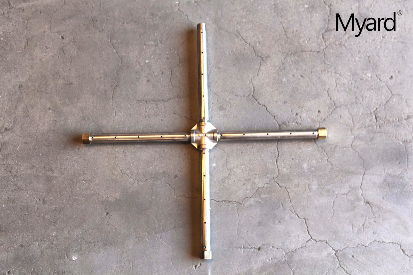 """MaxRed Myard Heavy Duty Gas Burner Tube Pipe for 30"""" Diameter Fire Pit/Fireplace/Logs"""